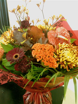 celosia bouquet