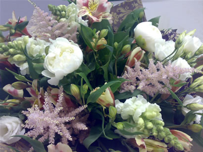 english peonies, alstromeria, snap dragons and lisianthus