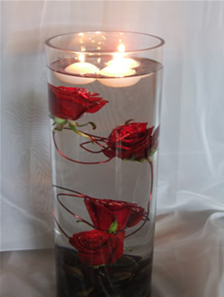 submerged rose vase