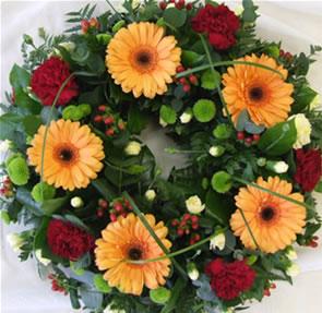 gerbera wreath