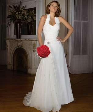 halterneck bridal dress