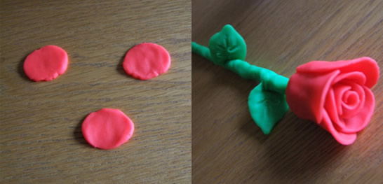 plasticine flowers