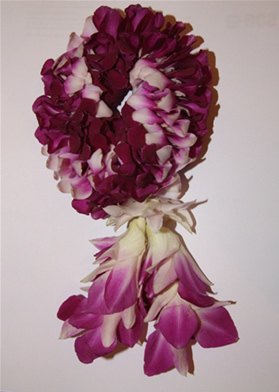 garland made with singapore orchids