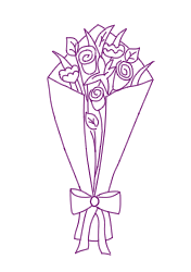 Gift wrapped bouquet care