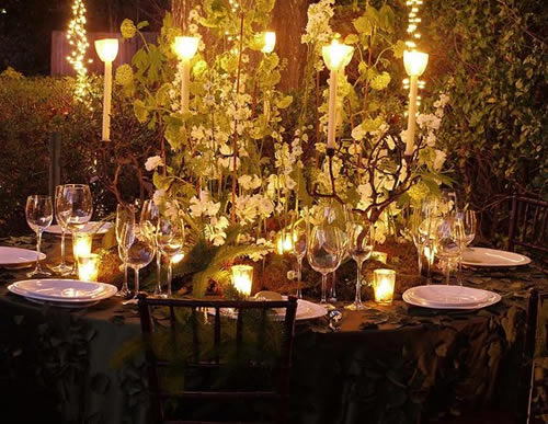Breaking Dawn reception table