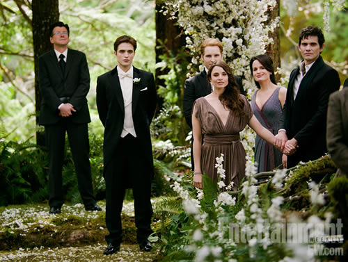 Twilight wedding scene