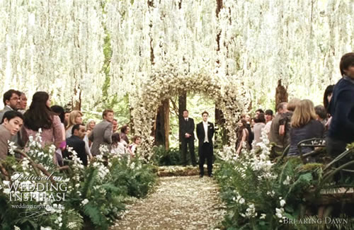 Breaking Dawn wedding ceremony