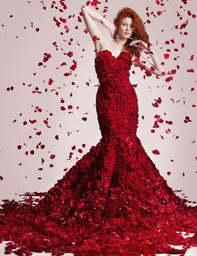 Joe Massey's Valentines day rose dress