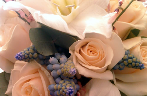 rose-and-muscari-bouquet